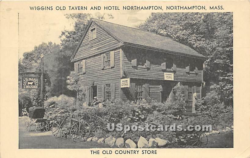 Wiggins Old Tavern & Hotel Northampton - Massachusetts MA Postcard