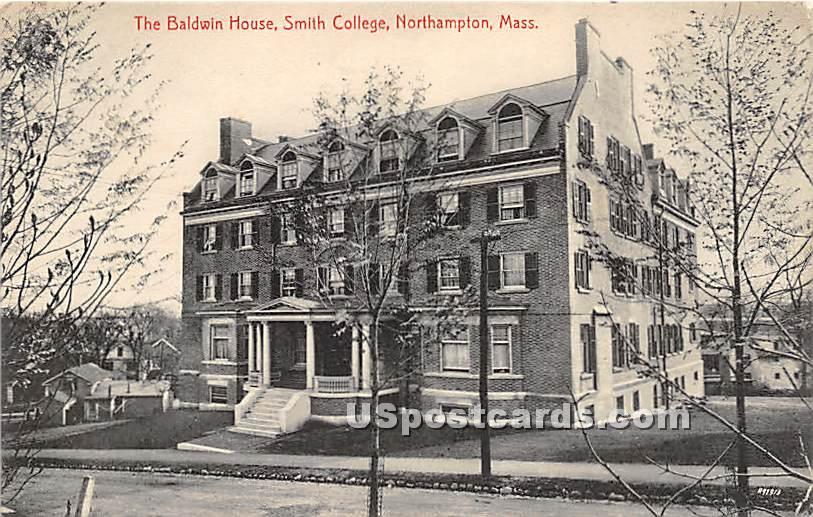 The Baldwin House at Smith College - Northampton, Massachusetts MA Postcard