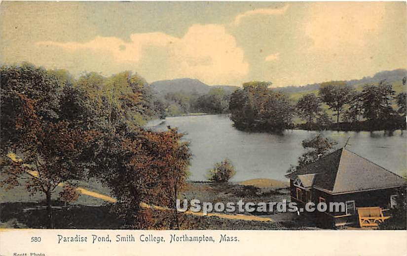 Paradise Pond at Smith College - Northampton, Massachusetts MA Postcard