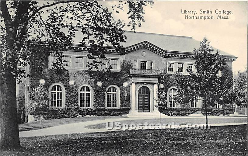 Library at Smith College - Northampton, Massachusetts MA Postcard