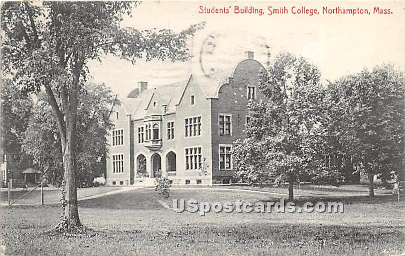 Students' Building at Smith College - Northampton, Massachusetts MA Postcard