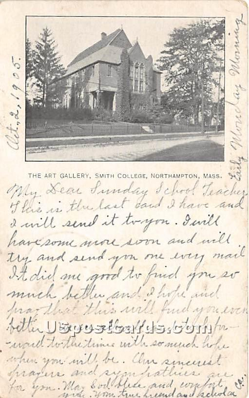 The Art Gallery at Smith College - Northampton, Massachusetts MA Postcard