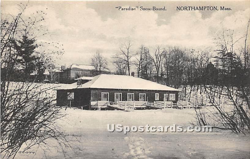 Paradise Snow Bound - Northampton, Massachusetts MA Postcard