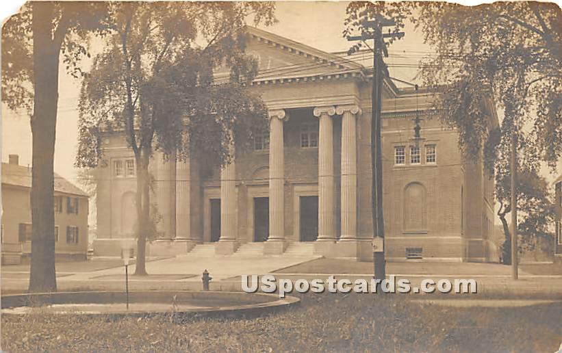 Building with Columns - Northampton, Massachusetts MA Postcard