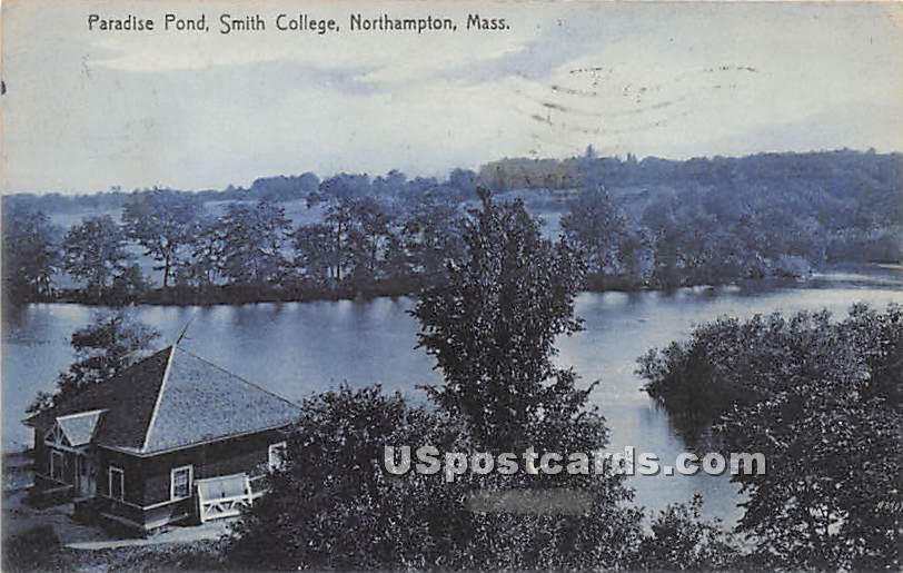 Paradise Pond at Smith College - Northampton, Massachusetts MA Postcard