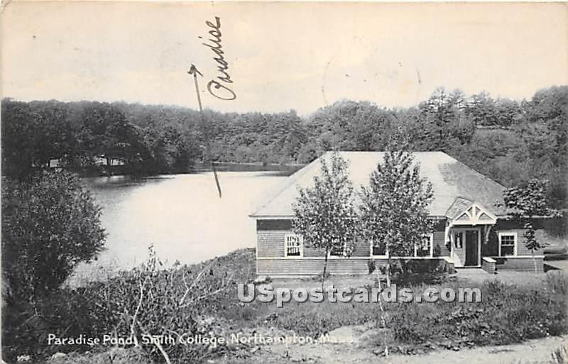 Paradies Pond at Smith College - Northampton, Massachusetts MA Postcard