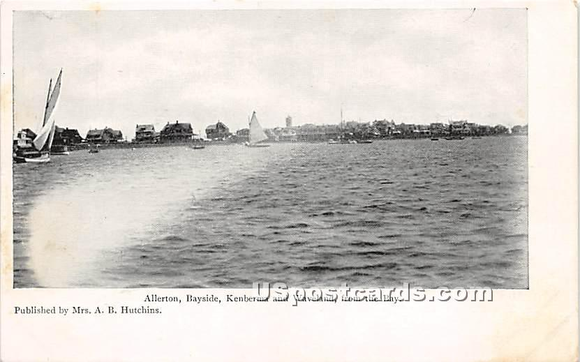 Allerton, Bayside, Kenberma & Waveland from the Bay - Nantucket, Massachusetts MA Postcard