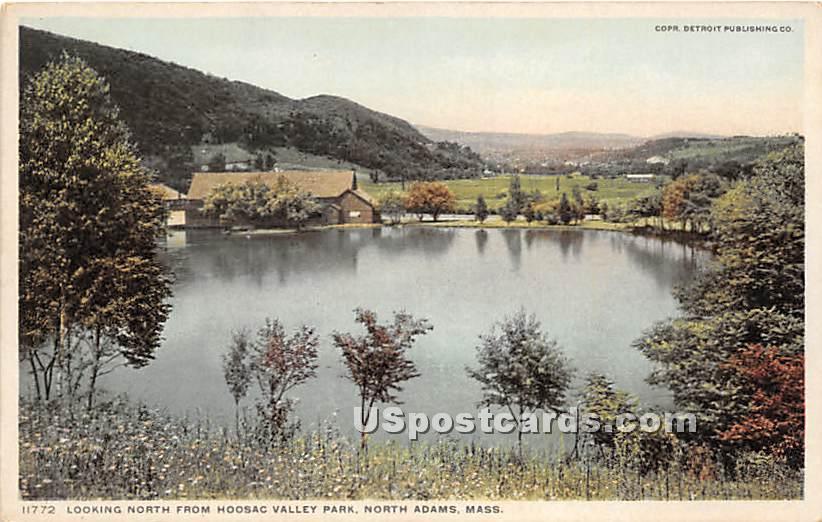 Looking North from Hoosac Valley Park - North Adams, Massachusetts MA Postcard