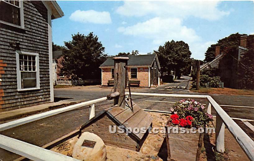 Pump Square - Nantucket, Massachusetts MA Postcard