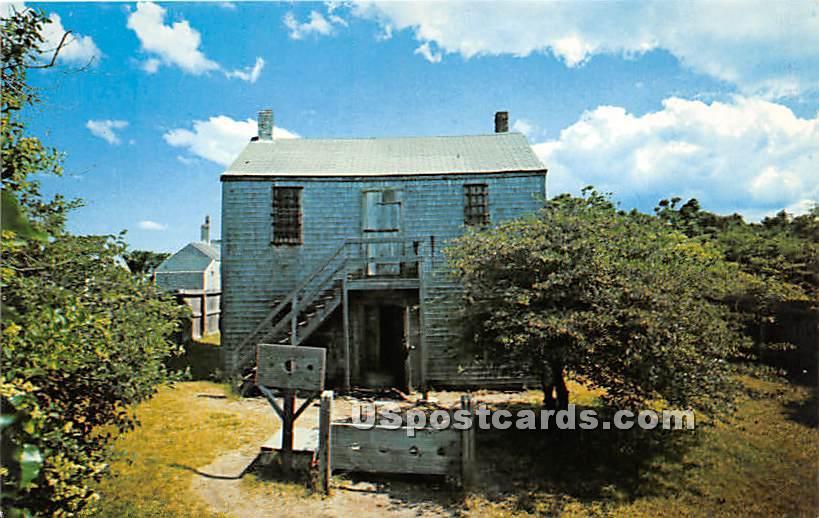 Old Jail Built in 1805 - Nantucket, Massachusetts MA Postcard