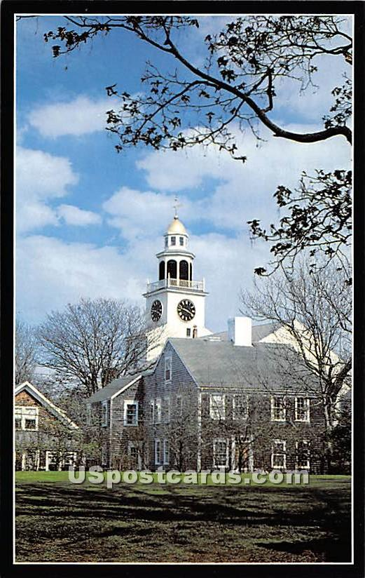 Old South Tower built in 1809 - Nantucket, Massachusetts MA Postcard