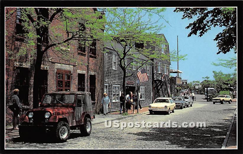 Lower Main Street - Nantucket, Massachusetts MA Postcard
