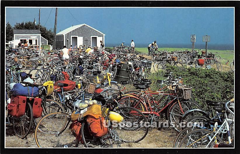 Bicylces - Nantucket, Massachusetts MA Postcard