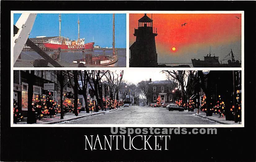 The Gray Lady of the Sea - Nantucket, Massachusetts MA Postcard