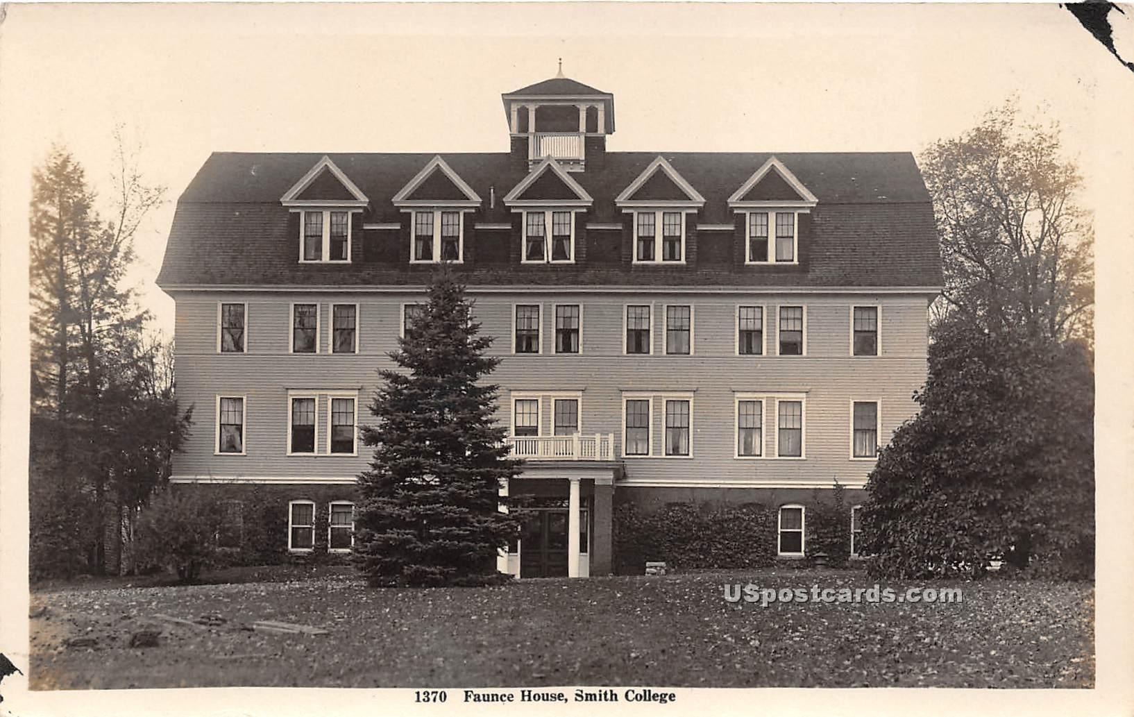 Faunce House - Northampton, Massachusetts MA Postcard