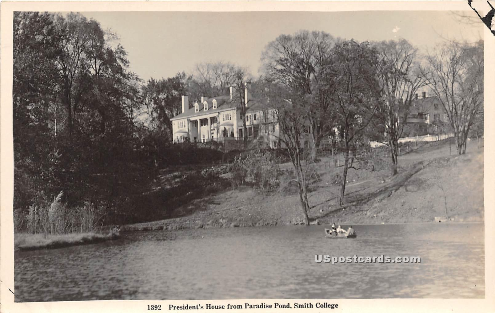 President's House - Northampton, Massachusetts MA Postcard