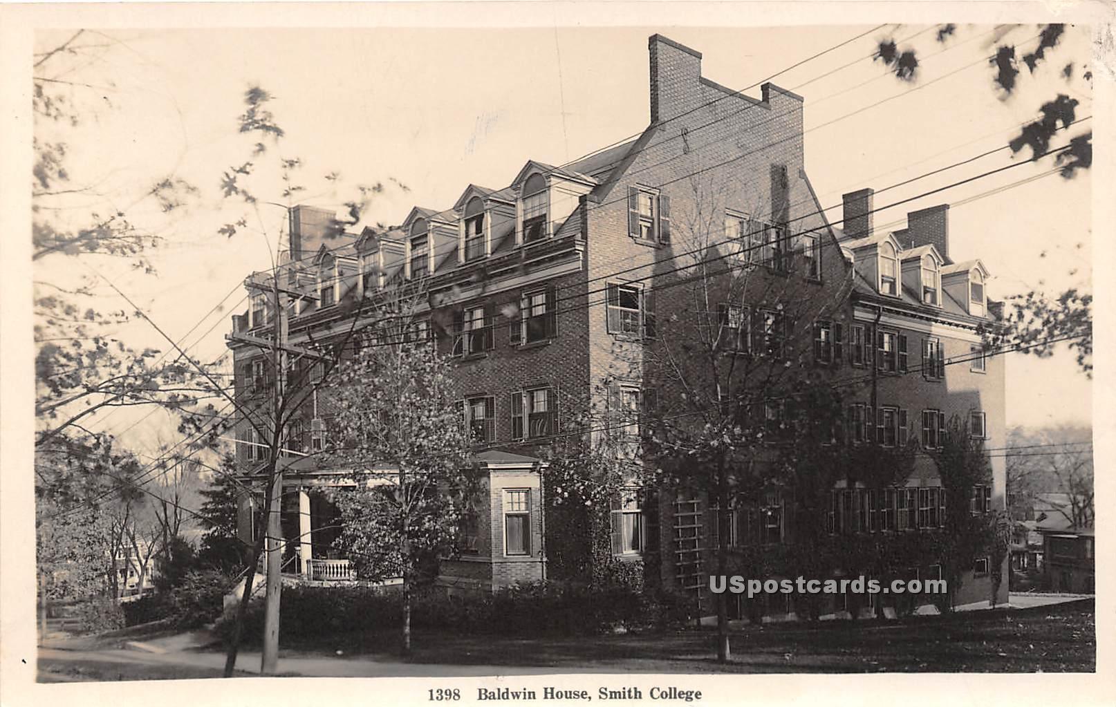Baldwin House - Northampton, Massachusetts MA Postcard