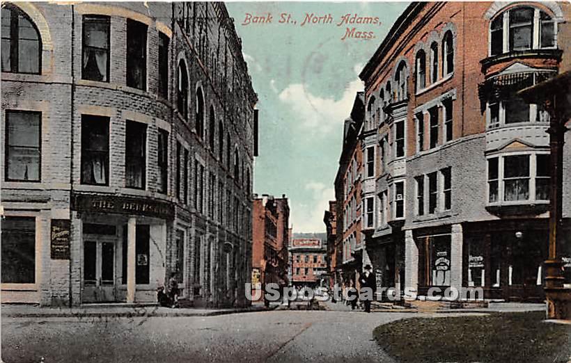 Bank Street - North Adams, Massachusetts MA Postcard