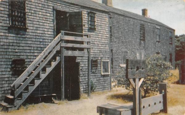 Old Jail Nantucket, Massachusetts Postcard