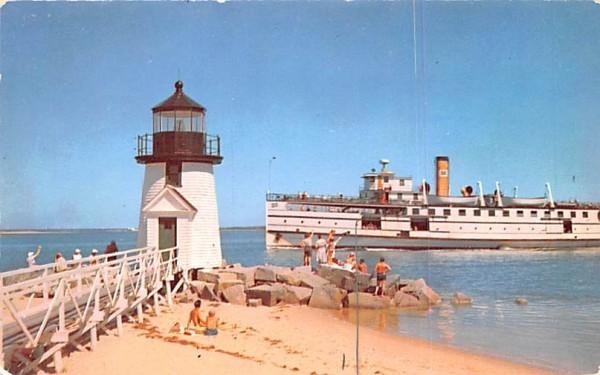 Rounding the Light In Nantucket, Massachusetts Postcard