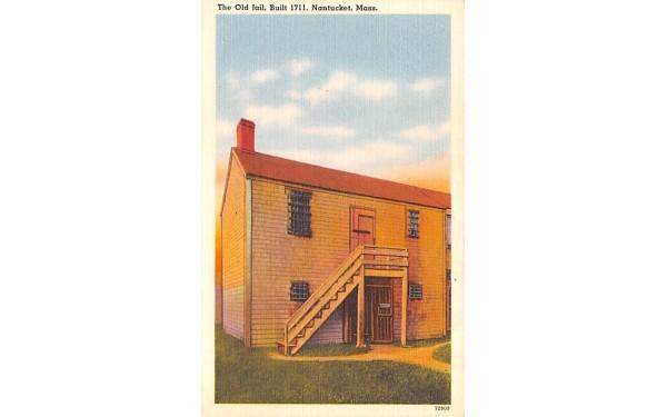 The Old Jail  Nantucket, Massachusetts Postcard