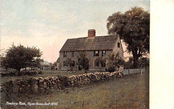 Noyes House  Newbury, Massachusetts Postcard