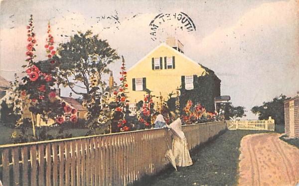 Hollyhock Time Nantucket, Massachusetts Postcard
