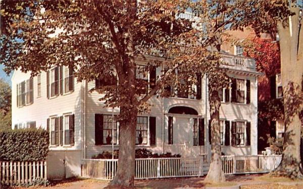 The Macy Mansion Nantucket, Massachusetts Postcard
