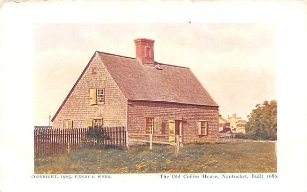 The Old Coffin House Nantucket, Massachusetts Postcard