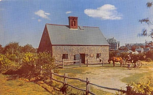 Nantucket's Oldest House Massachusetts Postcard