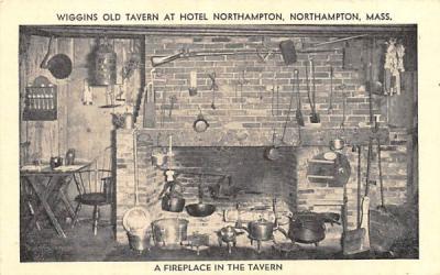 A Fireplace in the Tavern Northampton, Massachusetts Postcard