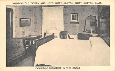 Coolidge Furniture in this Room Northampton, Massachusetts Postcard