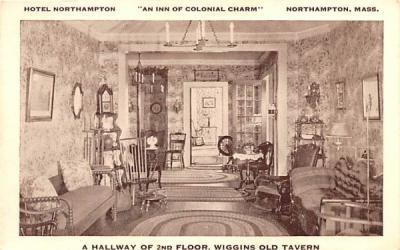 A Hallway of 2nd Floor Northampton, Massachusetts Postcard