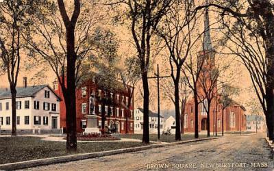Brown Square Newburyport, Massachusetts Postcard