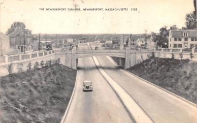 The Newburyport Turnpike Massachusetts Postcard