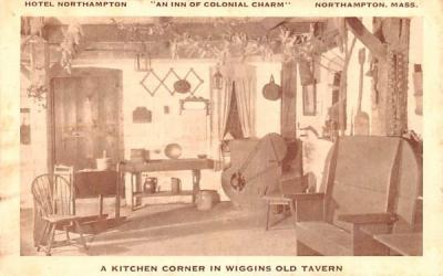 A Kitchen Corner  Northampton, Massachusetts Postcard