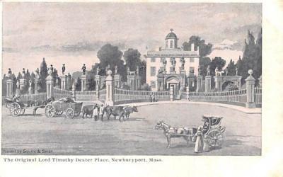 The Original Lord Timothy Dexter Place Newburyport, Massachusetts Postcard