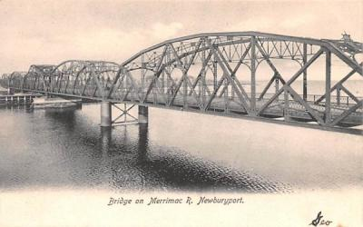 Bridge on Merrimac R. Newburyport, Massachusetts Postcard