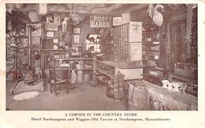 A Corner in the Country Store Northampton, Massachusetts Postcard