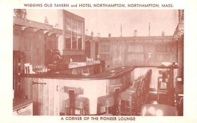 A Corner of the Pioneer Lounge Northampton, Massachusetts Postcard
