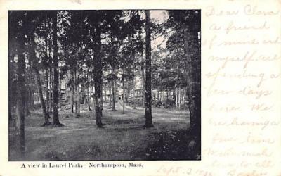 A Veiw in Laurel Park Northampton, Massachusetts Postcard