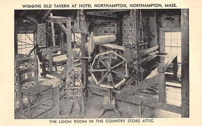 The Loom Room in the Country Store Attic Northampton, Massachusetts Postcard
