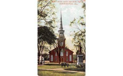 Brown Square & North Church Newburyport, Massachusetts Postcard