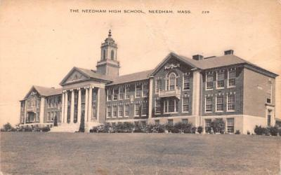 The Needham High School Massachusetts Postcard