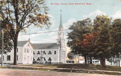 1st Cong. Church North Brookfield, Massachusetts Postcard