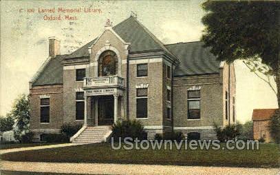 Larned Memorial Library - Oxford, Massachusetts MA Postcard