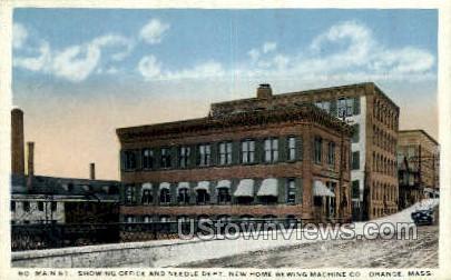 Office & Needle Dept, Sewing Machine Co - Orange, Massachusetts MA Postcard