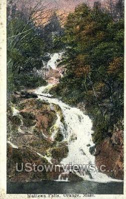 Mattewa Falls - Orange, Massachusetts MA Postcard