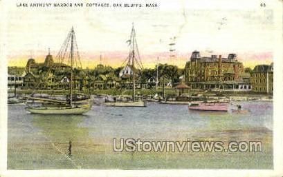 Lake Anthony Harbor & Cottages - Oak Bluffs, Massachusetts MA Postcard