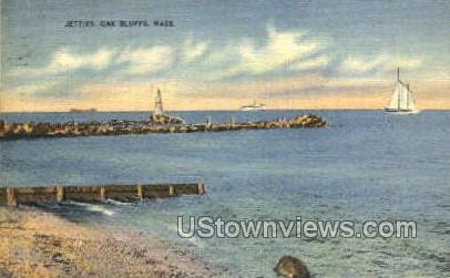 The Jetties - Oak Bluffs, Massachusetts MA Postcard